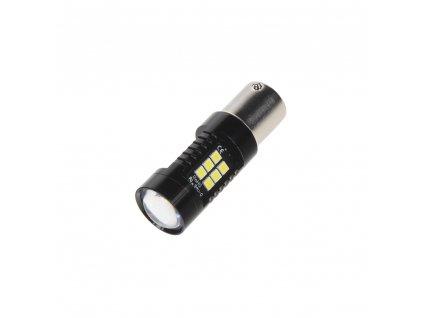 LED BA15s bílá, 12V, 21LED/3030SMD
