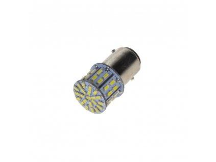 LED BAY15d bílá, dvouvlákno, 12V, 50LED/3014SMD