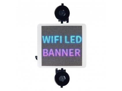 Wifi LED banner – plnobarevný displej s vysokým jasem 21,5 cm x 19,5 cm