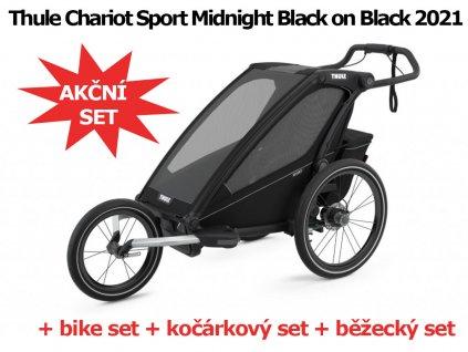 Thule Chariot Sport 1 Midnight Black 2021 + bike set + kočárkový set + běžecký set