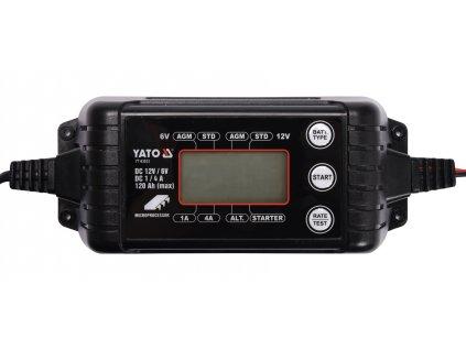 Nabíječka 4A 6/12V PB/GEL LCD display, YATO