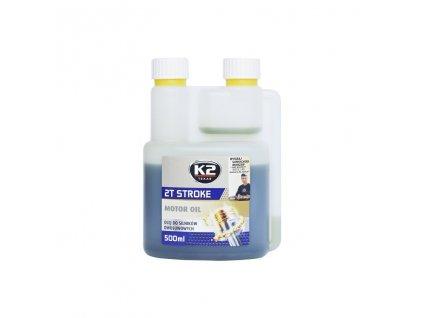 K2 TEXAR 2T STROKE 500 ml ZELENÁ - motorový olej polosyntetický