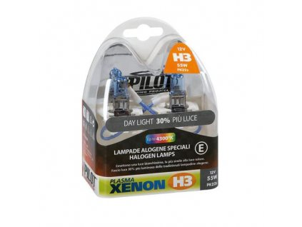 Sada žárovek 2xH3/12V 55W plasma xenon 3600K, 58168