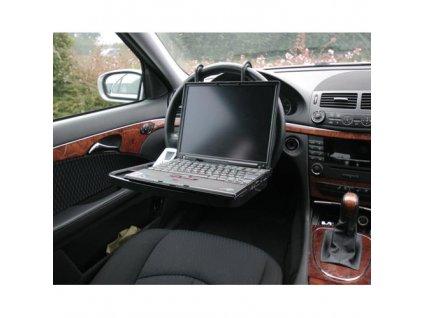 Závěsný stoleček do auta černý nosnost 10kg, 40209