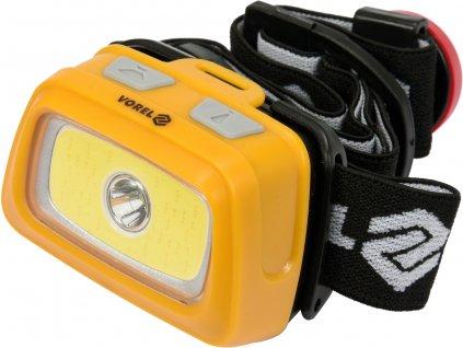 Svítilna čelovka LED XPE CREE 3W + COB LED 3W, VOREL