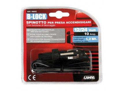 Zástrčka zapalovače s pojistkou, 12/24V a kabelem 120cm, 98092