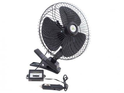 Ventilátor 12V/20W kovový pr.20cm s klipsem, 86337