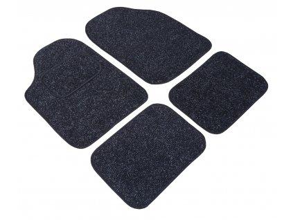 Textilní koberec UNI černo-šedé  CLASSIC  61458