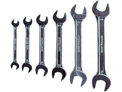 Klíče ploché 6-17mm, 6ks, 6107