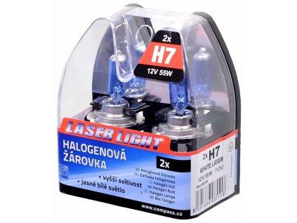 Sada žárovek H7 12V/55W WHITE LASER, 08551