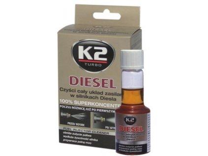 K2 DIESEL 50 ml - aditivum do paliva (obnovuje výkon motoru, snižuje emisní hodnoty) ET312
