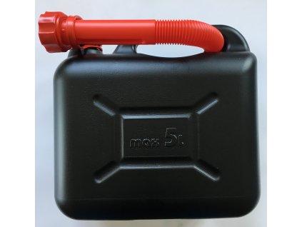 Kanystr plastový PHM 5l, černý