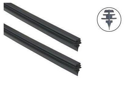 Gumička stěrače 71cm silikon černá