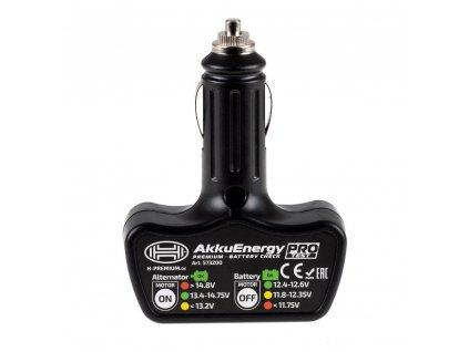 Tester autobaterie s diodami do autozapalovače, 573200