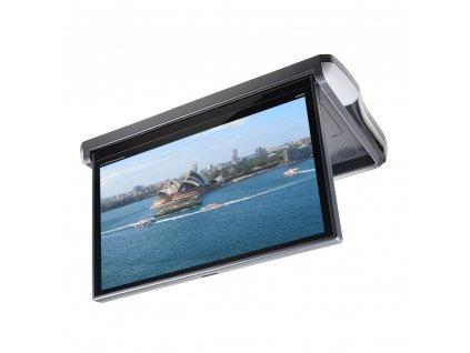 """Stropní LCD monitor 13,3"""" antracit s OS. Android HDMI / USB, dálkové ovládání"""