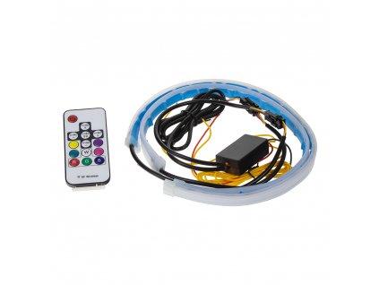 LED podsvětlení vnitřní/vnější RGB 12V, 2 slim pásky 45cm