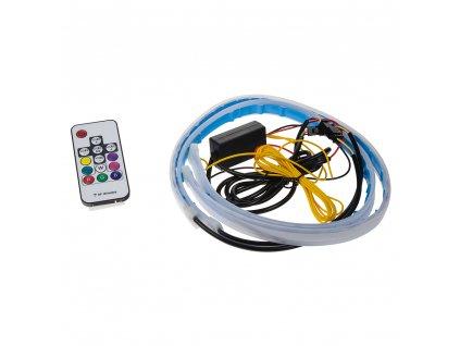 LED podsvětlení vnitřní/vnější RGB 12V, 2 slim pásky 60cm