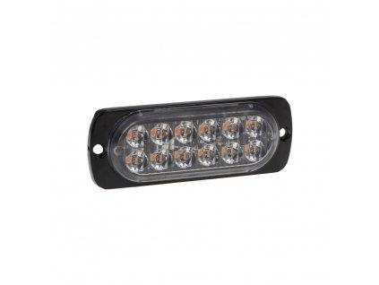 SLIM výstražné LED světlo vnější, oranžové, 12-24V, 12 x 3W
