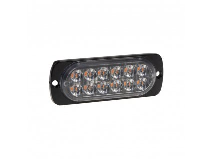 SLIM výstražné LED světlo vnější, oranžové, 12V, 12 x 3W