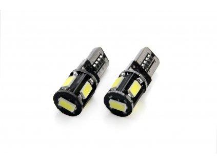 Žárovka 5 LED SMD 12V T10 bílá, 01628