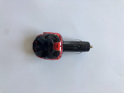 FM Modulátor s Bluetooth, 2xUSB, 12/24V, červený