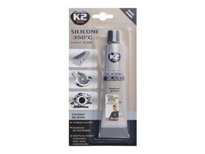 K2 SILICONE BLACK 85 g - silikon pro utěsnění části motoru při montáži , B210