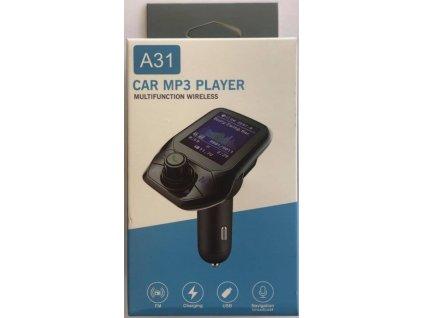 FM Modulátor s Bluetooth, 2xUSB, 12V, černý, 03424