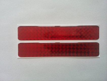 Odrazka 2,5x45cm červená, samolepící