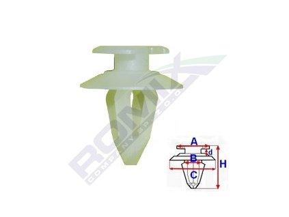 Příchytka čalounění; A-13,5; B-7,8; C-17,9; d-2,6; H-21mm ( balení 7ks)