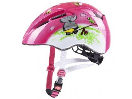 detska cyklisticka helma uvex kid 2 pink playground 79855