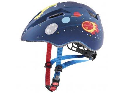 detska cyklisticka helma uvex kid 2 cc dark blue rocket 79839