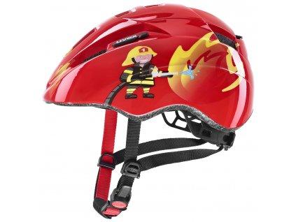 detska cyklisticka helma uvex kid 2 cc cervena hasic 99699