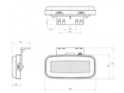 Lampa pozični zadní NEON 12V/24 V   W199