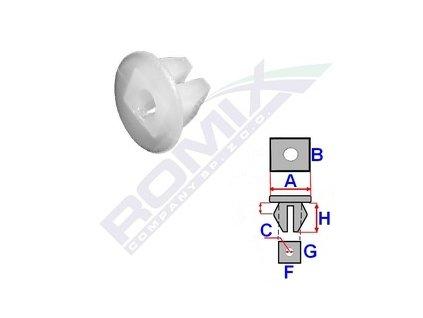 Montážní kostka A-12,8; C-3; F-5,9; G-7,4; H-7,8mm (baleni 25ks)