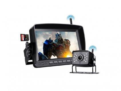 """SET bezdrátový digitální kamerový systém s monitorem 7"""" AHD, 2CH, DVR"""