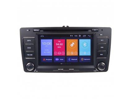 "Autorádio pro Škoda Octavia II s 7"" LCD, Android 10.0, WI-FI, GPS, Mirror link, Bluetooth, 3x USB"