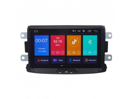 "Autorádio pro Dacia, Renault, Opel, Lada s 8"" LCD, Android 10.0, WI-FI, GPS, Mirror link, Bluetooth"