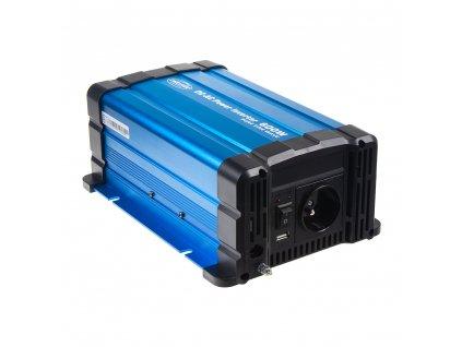 Sinusový měnič napětí z 24/230V, 600W / dálkové ovládání s displejem