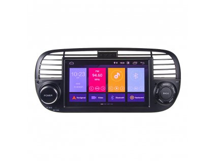 "Autorádio pro Fiat 500 s 7"" LCD, Android 10.0, WI-FI, GPS, Mirror link, Bluetooth, 2x USB"
