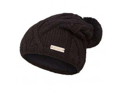 Čepice pletená bambule Outlast ® - černá (Velikost 4   45-48 cm)