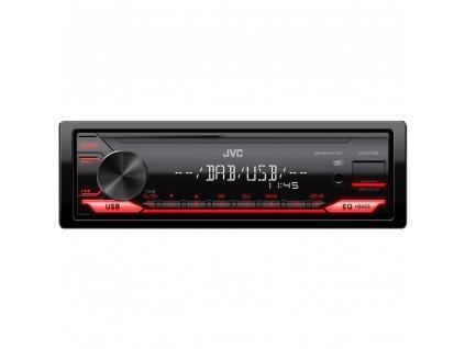 JVC DAB autorádio bez mechaniky/USB/AUX/červené podsvícení/odnímatelný panel