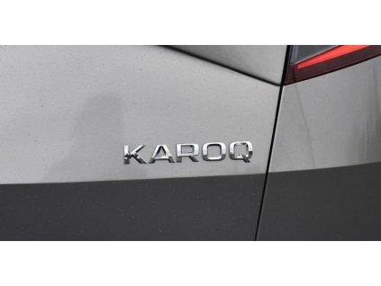 Nápis Karoq chromový, zadní