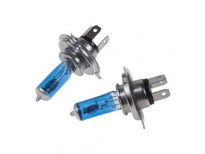x Halogen. žárovka 24V s paticí H4, Blue white 4300K, 100/90W