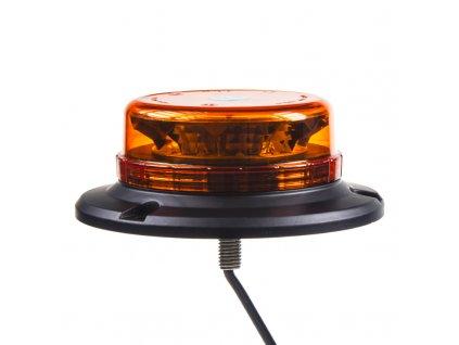 LED maják, 12-24V, 12x3W oranžový fix, ECE R65