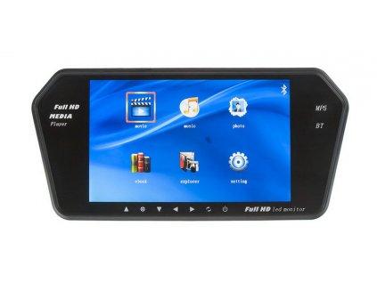 "LCD monitor 7"" na zrcátko s microSD/USB/FM modulátor/Bluetooth"