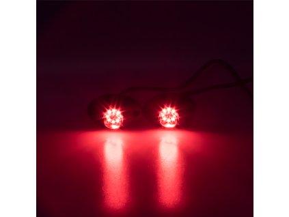 x  LED stroboskop červený 8x3W, 12-24V