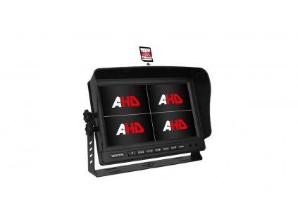"""AHD 720P monitor 9"""" s kvadrátorem a DVR"""