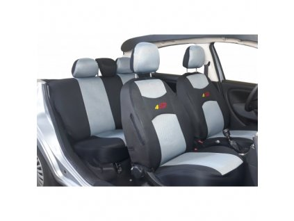 AUTOPOTAHY 4CAR  škoda octavia II s dělenou zadní sedačkou a zadní loketní opěrkou šedé...