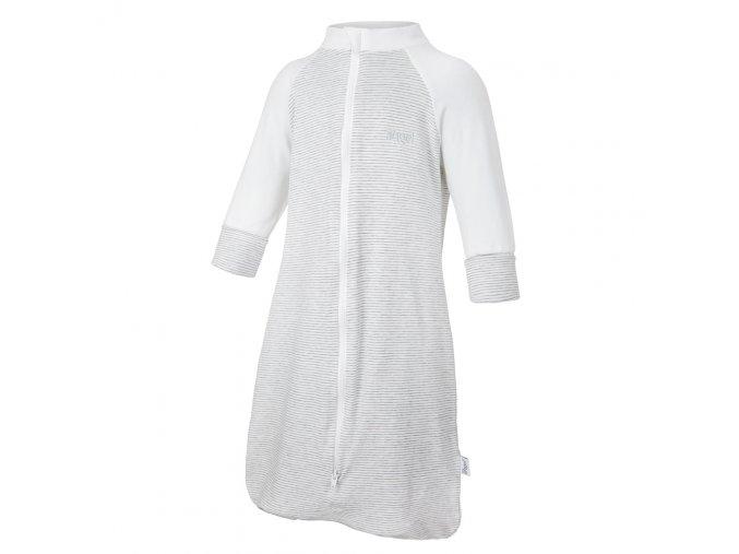 Overal spací pytel Outlast® - pruh bílošedý melír/bílá (Velikost 50)