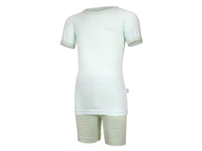 Pyžamo KR Outlast® - sv.zelená/pruh sv.zelenožlutý (Velikost 128)